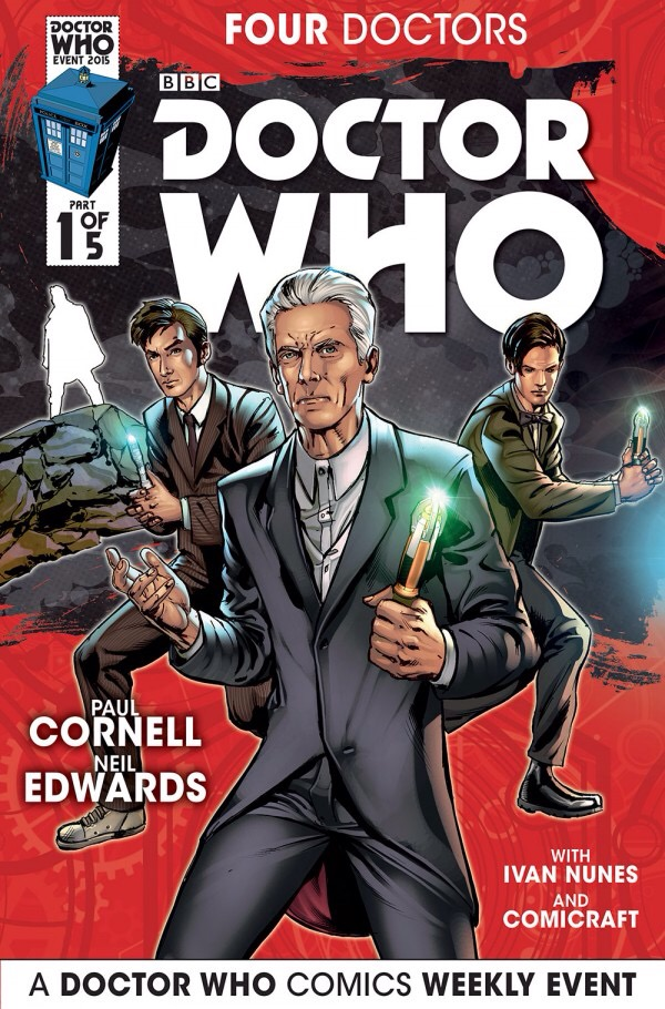 preview of Titan comics four Doctors range