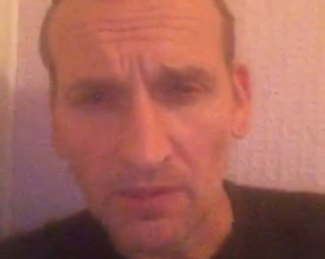 #drwhodaniel update video message from Christopher Eccleston and a visit from RealSFX
