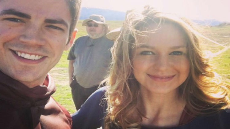 Grant Gustin shares first picture of Supergirl cross over
