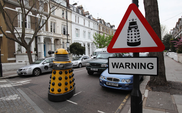 Dalek tells humans to stay home