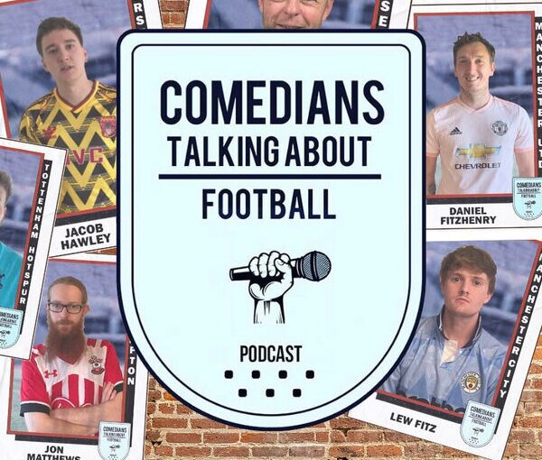 Comedians talking about football